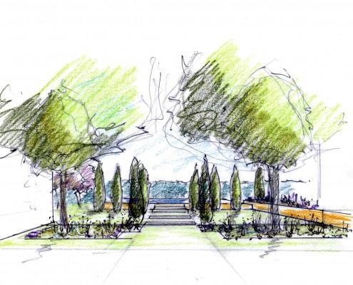 Gartenplanung Entwurf