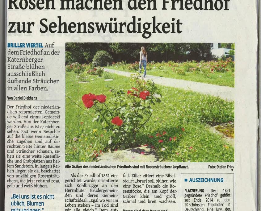 Presseartikel in der Westdeutschen Zeitung