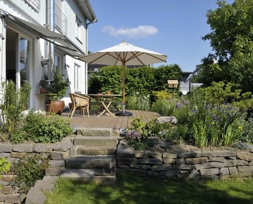 Terrasse aus Naturstein