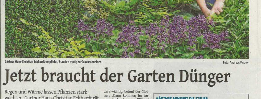 Westdeutsche Zeitung: Jetzt braucht der Garten Dünger