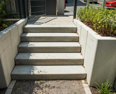Gestaltung von Wegen und Treppen, Wohnanlage in Wuppertal