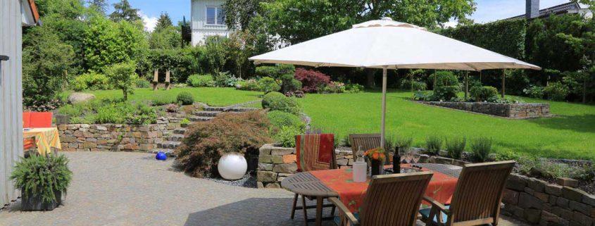 Sitzecke Hausgarten Wuppertal