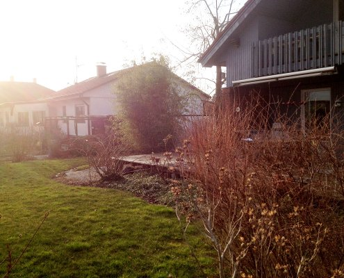 Hausgarten vor der Umgestaltung