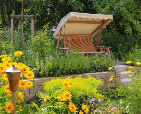 Garten Pflanzen Schaukel