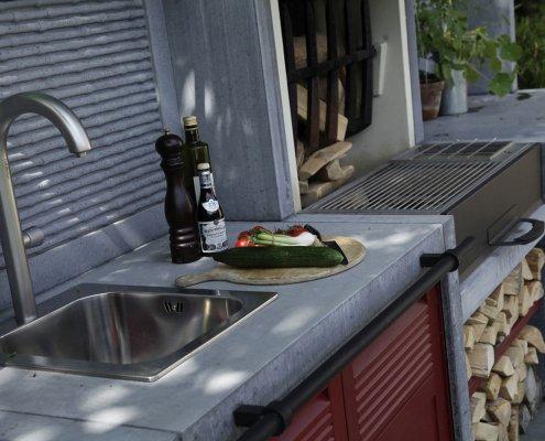 Outdooküche im Garten