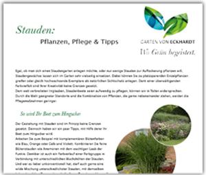 Infoblatt Gartentipp