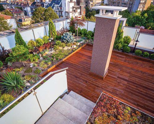 Dachgarten privates Haus, Dachterrasse anlegen, Dachterrasse privates Haus